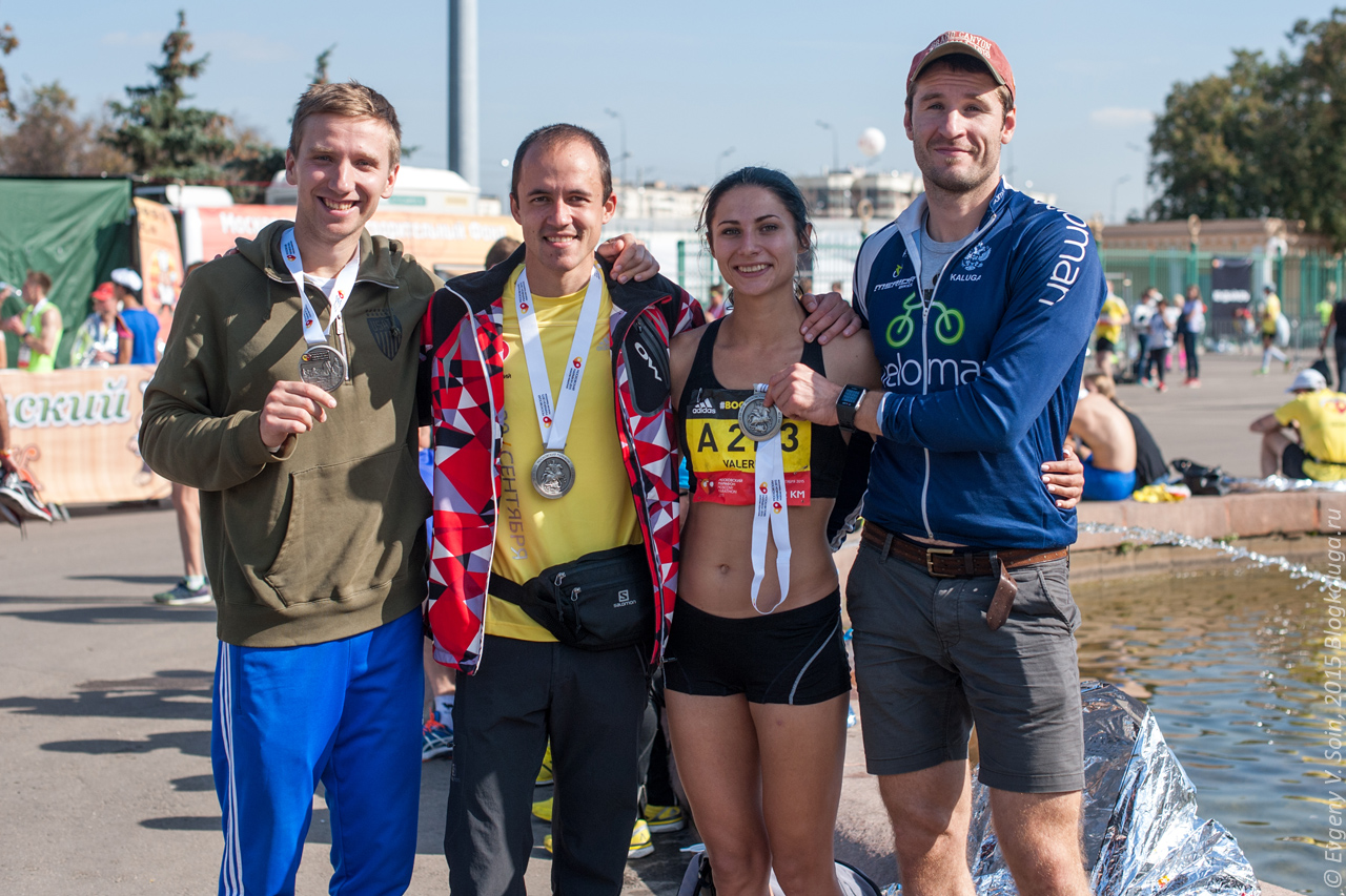 Калужане на Московском марафоне 2015